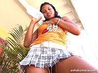 Asha Kumara pours water on her tits and flashes brown buns from Asha Kumara